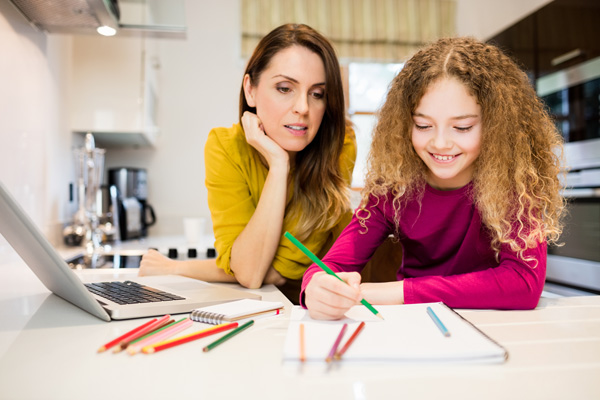 Homeschool Algebra Math Parent and Child